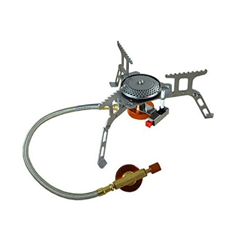 Portable Outdoor Folding Gas Stove ,Mini Stainless Steel Camping Gas Butane Propane Stove Burner Cookware (Propane Stove Go)