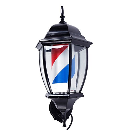 - TimmyHouse Barber Shop Pole Rotating LED Light Sign Hair Salon US Plug 20