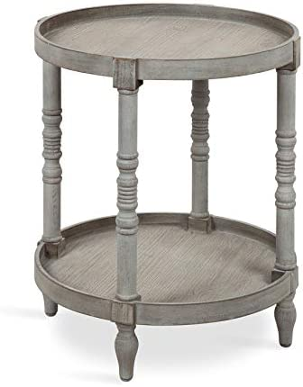 Kate and Laurel Bellport Shabby Chic Round Side Accent Table or Plant Stand