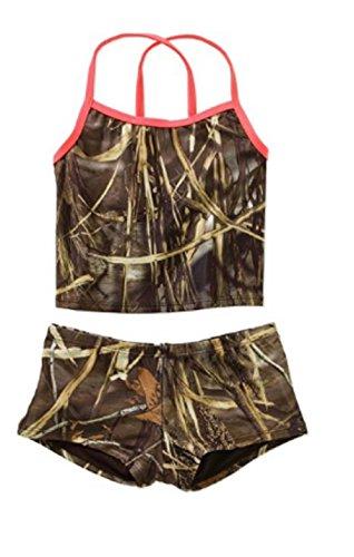 RealTree Girls' Tankini Swimsuit (6/6x) camo