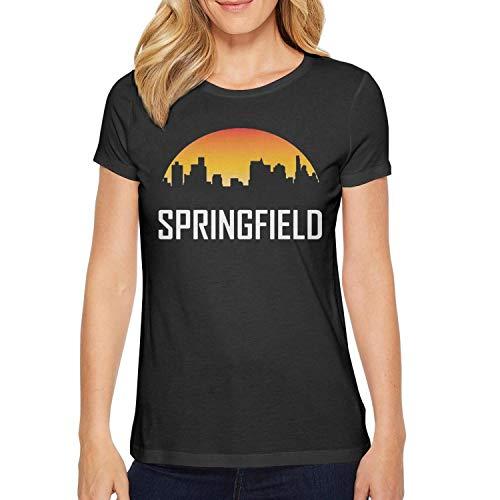 VNTSDSCAWEFDFG Black Womens t-Shirt Cable Plain Design Comfy Fishing City-Springfield-Illinois-