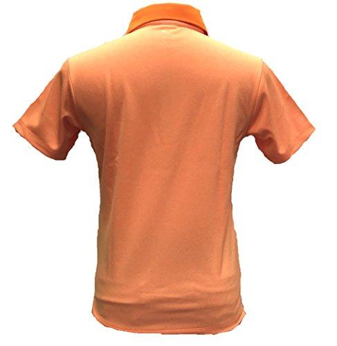 PUMA(プーマ)ゴルフ ポルカドット ポロ VIBRANT ORANGE 902530-03 Sサイズ メンズ