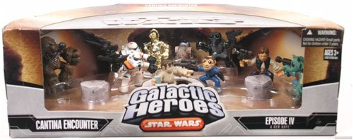 Star Wars Galactic Heroes Deluxe Cinema Scene Mini Figure Multi Pack Cantina (Galactic Heroes Bounty Hunters)