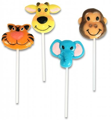 (Rhode Island Novelties 227726 Zoo Animal Lollipops Various - color may vary (1 dozen))