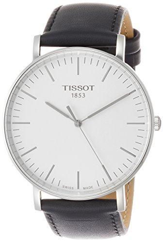 Tissot Everytime T109.610.16.031.00 Silver/Black Leather Analog Quartz Men's Watch from Tissot