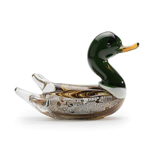 Dynasty Gallery Small Glass Mallard Duck Figurine]()