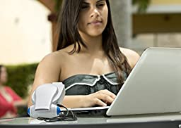 Cool on the Go® Clip Fan- NEXT GENERATION! The World\'s Most Versatile Hands-free Personal Cooling Device. Compact Portable Fan Powered By USB or Batteries (rechargeable version now available too!). Clip on Stroller fan, Desk fan & more…