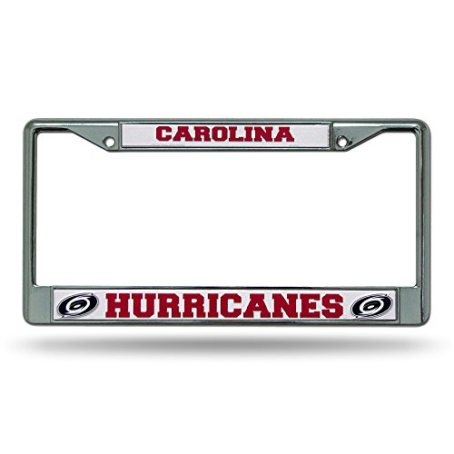 Rico Industries NHL Carolina Hurricanes Standard Chrome License Plate Frame