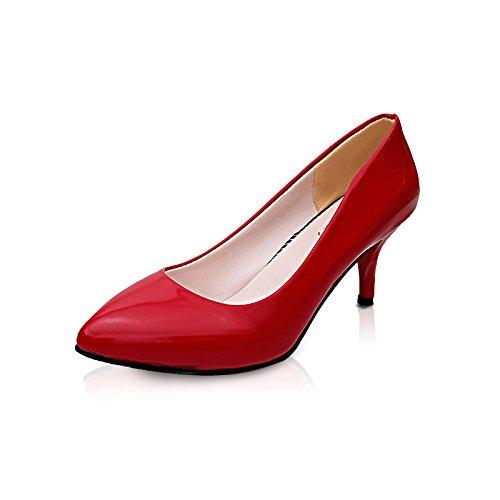 high scarpe di alto alta colore punta scarpe nuovo Il ZHZNVX red vocational solido a tacco sistema ad tacco tacco scarpe la luce 6wHU7Sqx