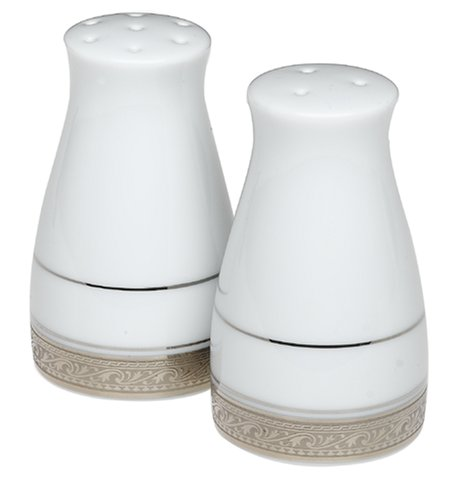 Noritake Crestwood Platinum Salt and Pepper Shakers