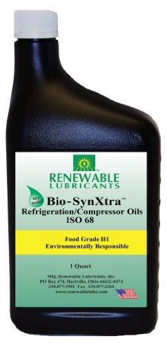 Renewable Lubricants Bio-SynXtra Food Grade ISO 68 Refrigeration/Compressor Oil, 1 Quart Bottle
