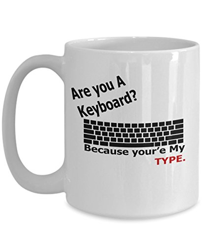 Are you a keyboard Mug 15 oz Novelty Coffee Mug - Perfect Pick Up Line Gift - Ceramic Coffee Cups With Two Sides - Best Gift For Couples, Him or Her, Husband or Wife, Boyfriend or Girlfriend