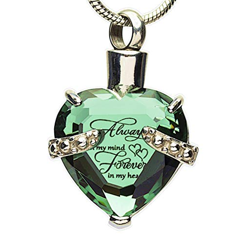 Eternal Harmony Heart Cremation Jewelry Urn for Ashes | Elegant Keepsake Urn Necklace with Stainless Steel Chain