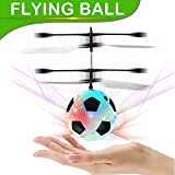 Flying Ball, Kids Toys Hand Control Helicopter Mini Infrared Induction Drone Magic RC Flying Toys with Shinning LED Lights Fun Gadgets for Boys Girls Kids Teenagers Men Women(Flying Soccer)
