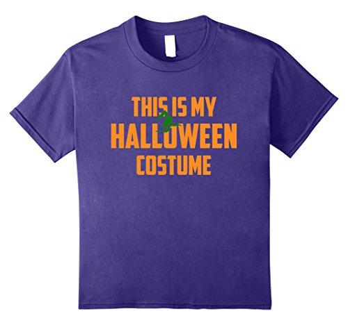 Purple Pie Man Costume (Kids This Is My Halloween Costume Tee Kids Men Women 8 Purple)