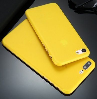 iPhone Yellow Frosted Transparent Flexible product image