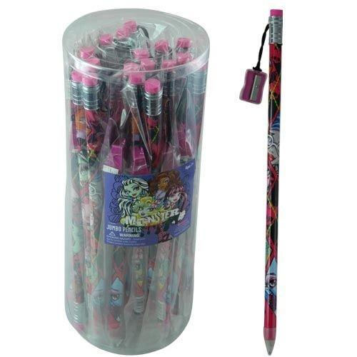 Monster High Jumbo Pencil with Sharpener 24 pc (6316MH) -