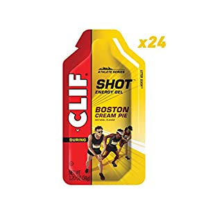 Clif Shot – Energy Gels – Boston Cream Pie – (1.2 Ounce Packet, 24 Count)