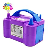 ID IDAODAN Electric Air Balloon Pump Portable Dual Nozzle Electric Balloon Inflator/Blower for Party Decoration - 110V 600W (Purple)