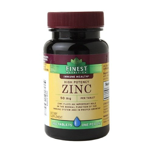 Amazon.com: Finest Nutrition Zinc 50mg, Caplets 100 ea by AB: Health &  Personal Care