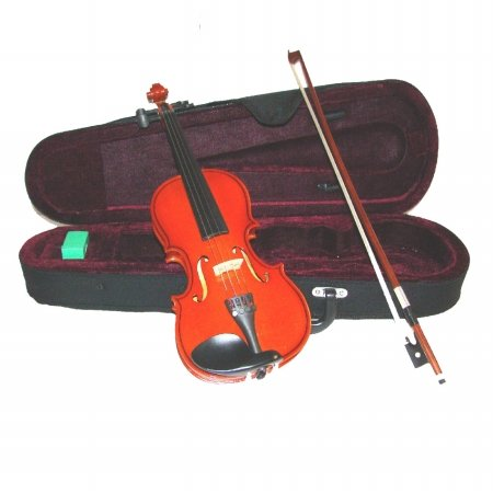 Merano MA200 16'' Solid Viola with Case and Bow+Extra Set of Strings, Extra Bridge, Shoulder Rest, Rosin, Metro Tuner, Black Music Stand, Mute by Merano