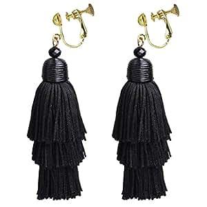 Amazon.com: Bohemian Black Three Layer Silk Fringe Thread