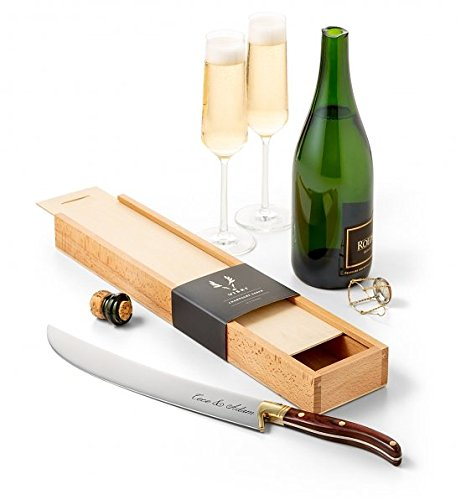 County Sparkling Wine - GiftTree Engraved Champagne Saber | Artisan Crafted Stainless Steel | A Beautiful Gift to Memorialize a Special Occasion