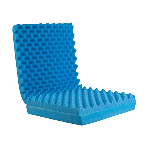 DMI Convoluted Foam Chair Pad, Seat Cushion with Attached Back Cushion,