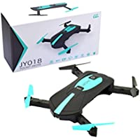 Digood JY018 WiFi FPV Quadcopter Mini Dron Foldable Selfie Drone RC Drones With 720P HD Camera (black)
