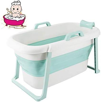 折りたたみバスタブ GYF 折り畳み式バスタブ ポータブル大人用バスタブ プラスチックカバーホーム全身 子供用入浴バケツ 厚くなった大人の浴槽 子供用プール117x65x60cm (Color : Blue)