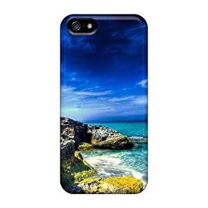 Living Poet Snap On Hard Case Cover Blue Skies Over A Rocky Seacoast Protector For Iphone 5/5s