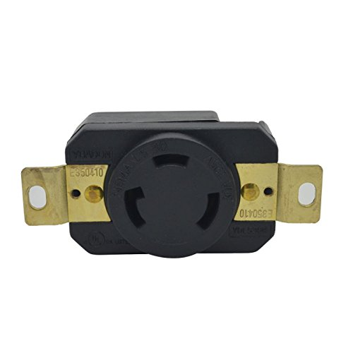 - YuaDon NEMA L5-30R General-purpose Twist Locking Receptacle 2 Pole,3 Wire,125Volt AC,30 Amp,Grounding