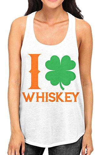 juniors-i-love-whiskey-irish-shamrock-white-racerback-tank-top-medium