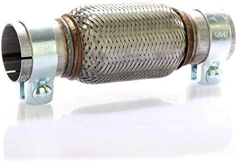 Edelstahl Flexrohr Auspuff 60 X 150 Mm 2 Schellen Flexstück Set Ohne Schweißen Auto