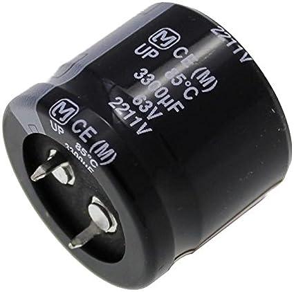 2x Elettrolitici Condensatore 3300/µF 63V 85/°C ; ECEC1JP332DA ; 3300uF