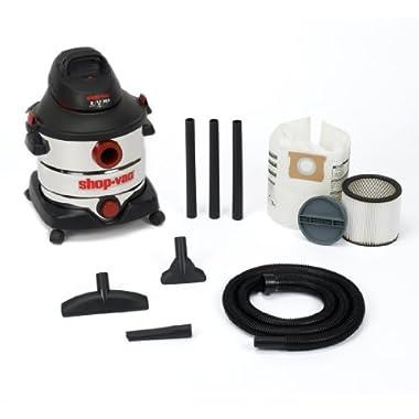 Shop-Vac 5986100 8-Gallon 5.5 Peak HP Stainless Steel Wet Dry Vacuum