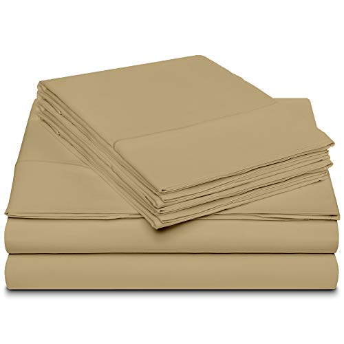 Bolboms 800 Thread Count 6 Piece MARROWING Sheet Sets 100% Long Staple Soft Egyptian Quality Cotton with 15
