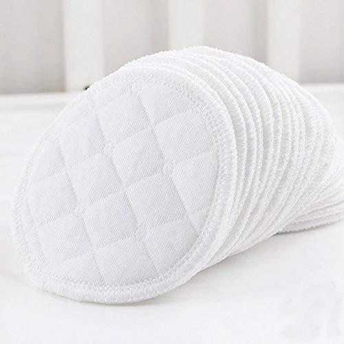 Wakerda 12 piezas de almohadillas de mama reutilizable La alimentaci/ón de discos de lactancia de enfermer/ía lavable suaves absorbentes para beb/és anti desbordamiento