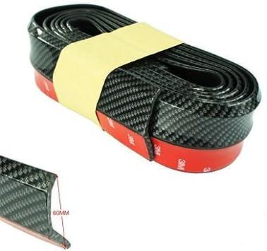 Protezione Universale labbro spoiler paraurti auto in gomma dura 2,5 metri new