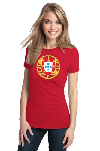 PORTUGUESE COAT OF ARMS Ladies' T-shirt / Portugal National Emblem, Flag