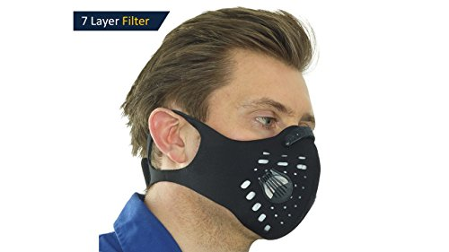 Enviro-Vent - 2.0v, Anti-Pollution Face Mask, N99 Filter, 2-Way vents, Activated Carbon Filtration, Exhaust Fumes, Anti Pollen & Allergy, Urban Pollution, Cycling, Running, Gardening, DIY, Fitness