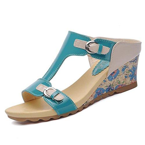 Medio dimensioni Vamp Suola 2 Femminile Tacco 2 Superiore Usura Pendenza Esterna CN36 Colore Sandali In Pantofole EU36 PU Gomma UK4 qwgzZBA