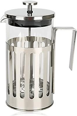 NINUO Cafetera Cafetera de té Cafetera de filtro de café Cafetera eléctrica con filtro de acero inoxidable (0.35L)