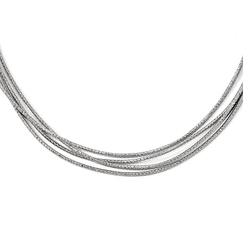 Jewel Tie Sterling Silver Multi-strand with 2in ext. Necklace Chain