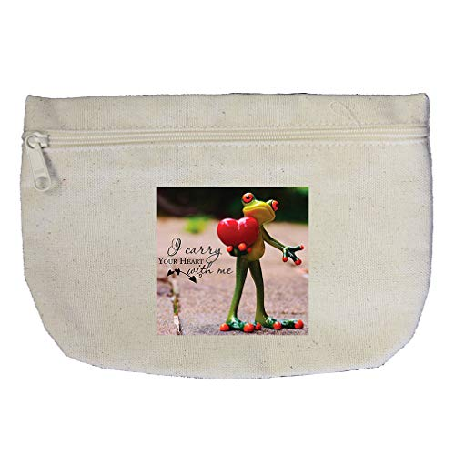 (Your Hearth Is With Me Cotton Canvas Makeup Bag Zippered Pouch)
