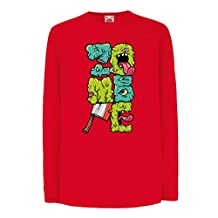 Funny t shirts for kids Long sleeve Zombie gear zombie gifts clothing