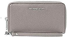 f376d5572faf MICHAEL Michael Kors KORS STUDIO Large Flat Phone Case Wristlet Pearl Gray