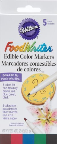 Wilton Food Writer Edible Color Markers, Extra Fine Tip ()