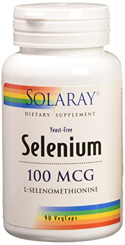 Selenium Yeast (Solaray Selenium Yeast Free 100 mcg Capsules, 90 Count)