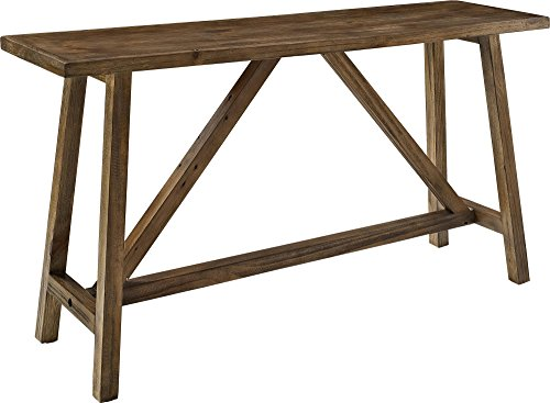 Ameriwood Home Altra Furniture Bennington Wood Side Table with Sawhorse Legs, Rugged Rustic Finish - Rugged Industrial Design - Cool New Look from Altra Furniture Casual living accessory must! Shabby Chic - Rustic restoration finish adds charm - living-room-furniture, living-room, console-tables - 4110fPf3T5L -